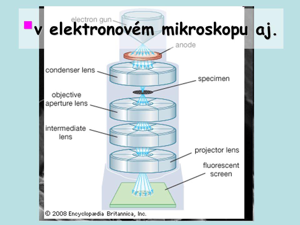 v elektronovém mikroskopu aj.