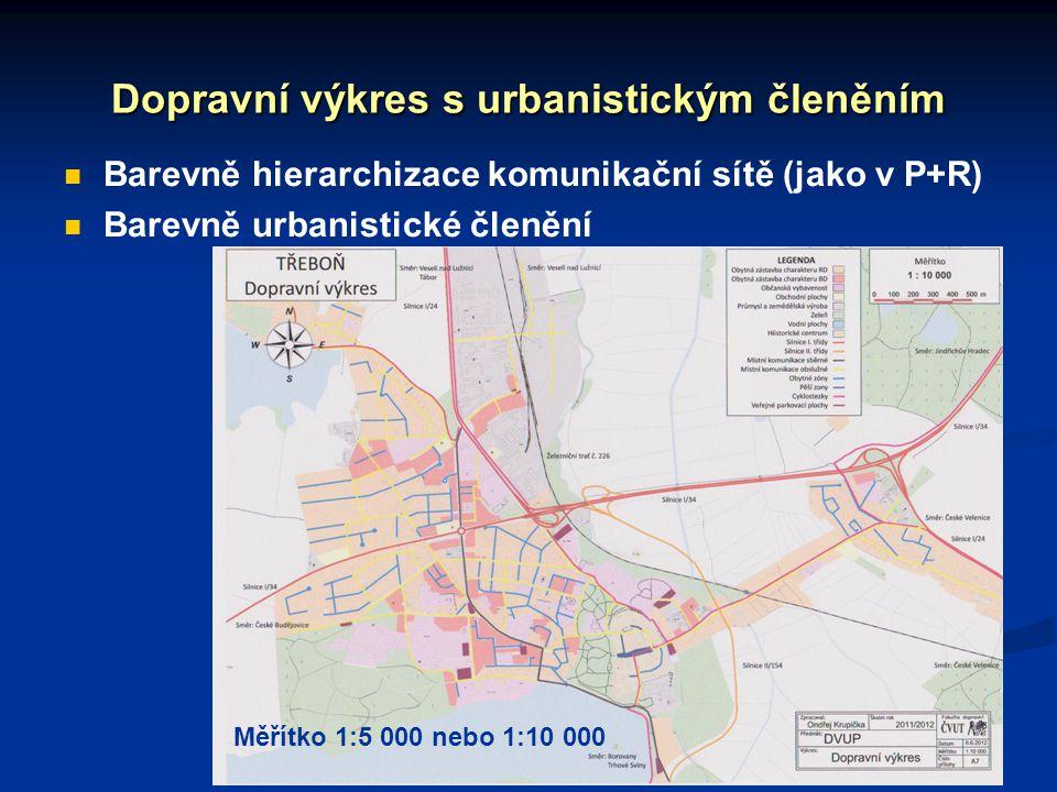 Dopravní výkres s urbanistickým členěním