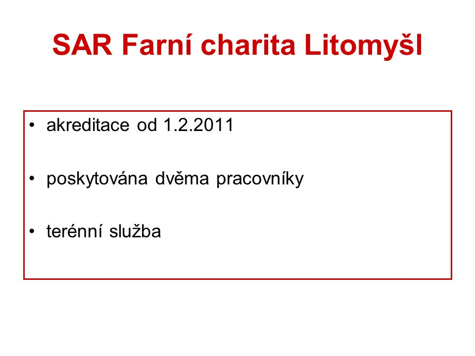 SAR Farní charita Litomyšl