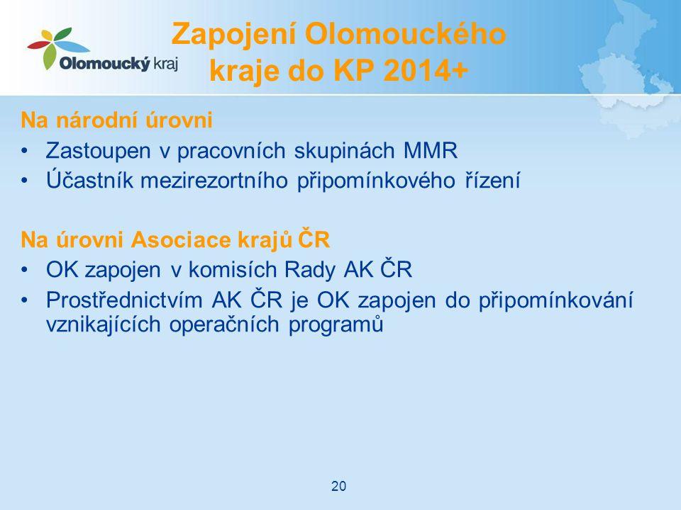 Zapojení Olomouckého kraje do KP 2014+