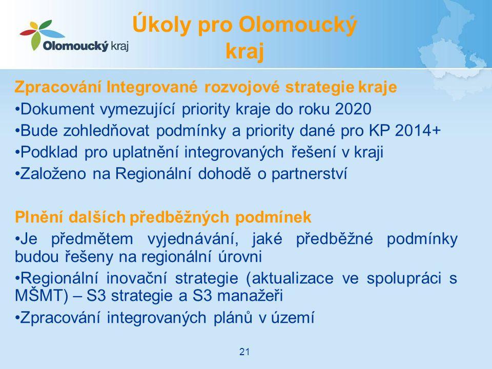Úkoly pro Olomoucký kraj
