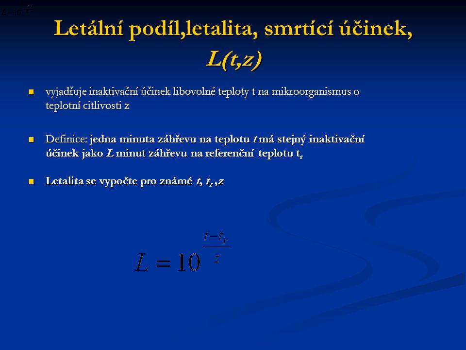 Letální podíl,letalita, smrtící účinek, L(t,z)