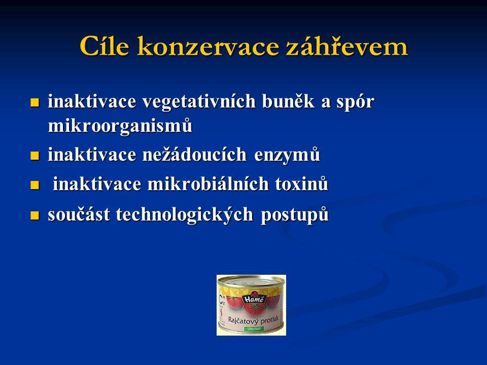 Cíle konzervace záhřevem