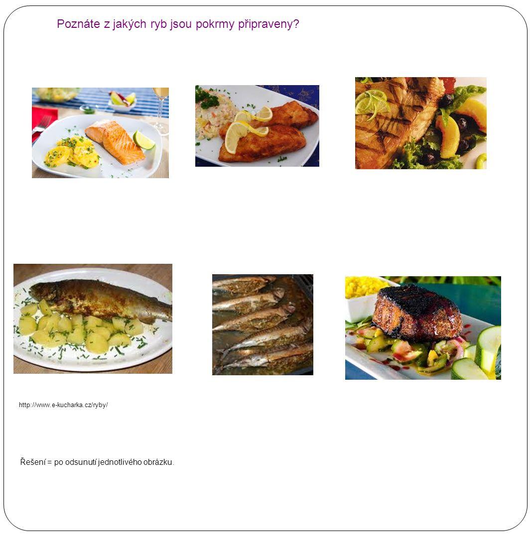 Poznáte z jakých ryb jsou pokrmy připraveny
