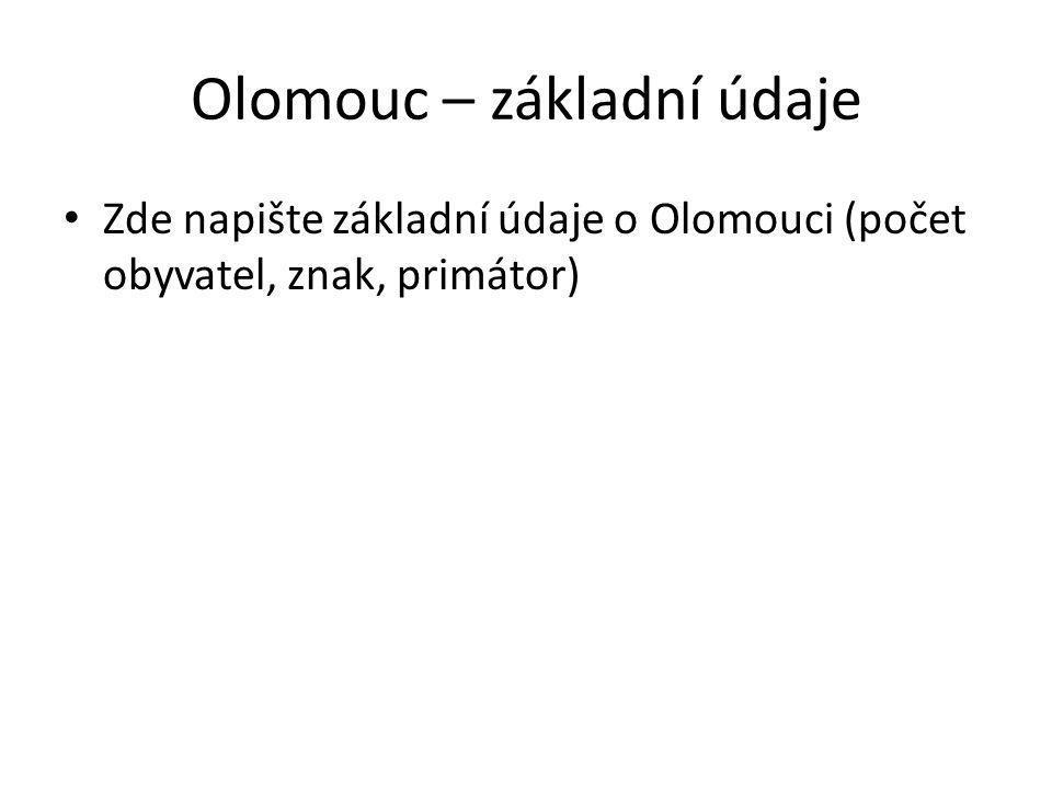 Olomouc – základní údaje