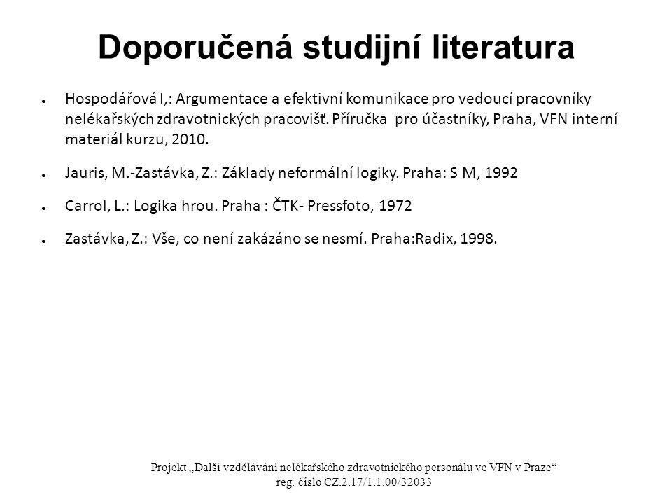 Doporučená studijní literatura