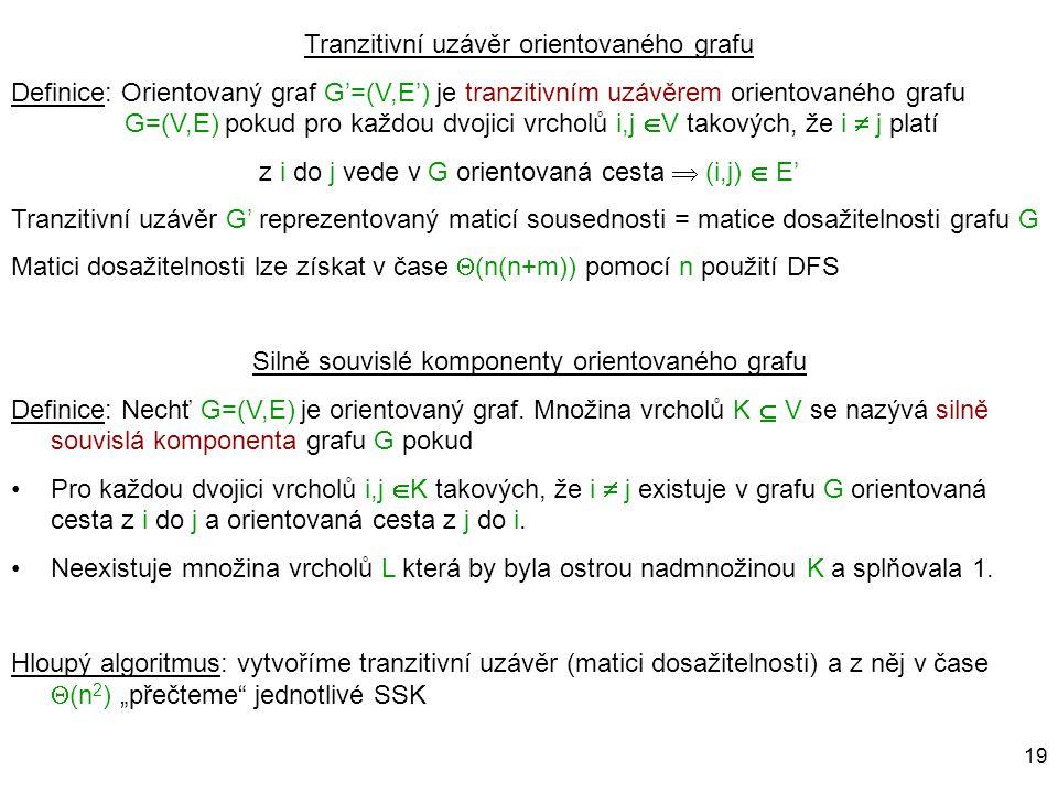 Tranzitivní uzávěr orientovaného grafu