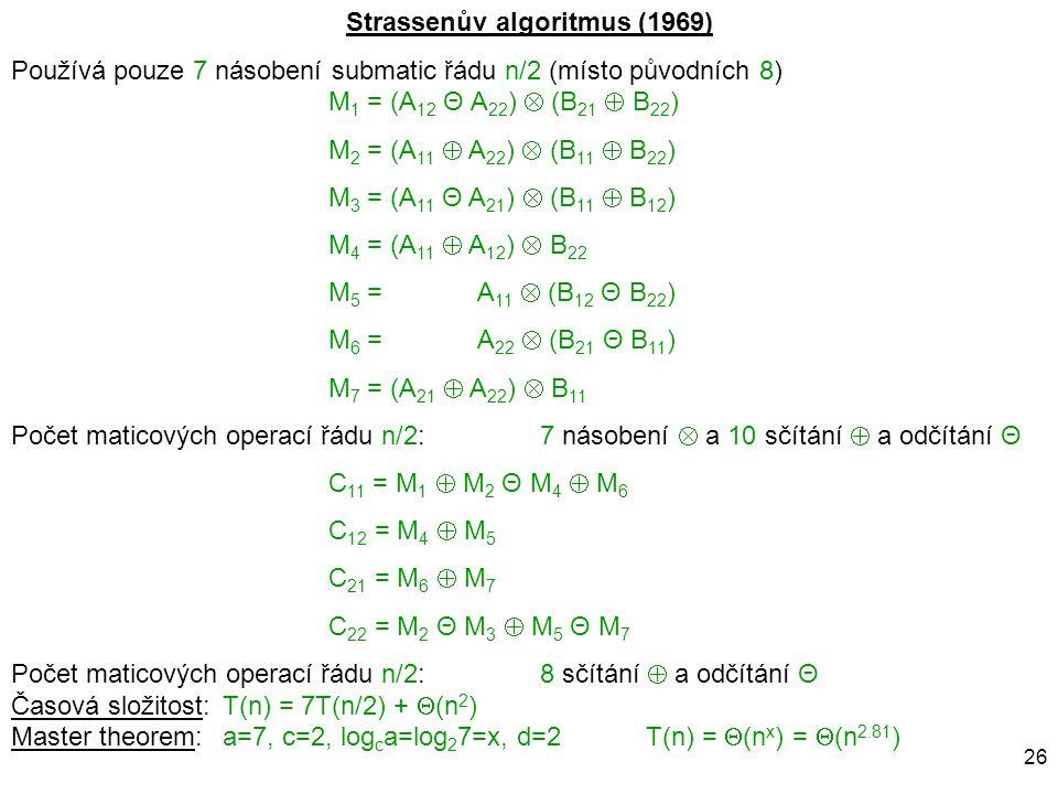 Strassenův algoritmus (1969)