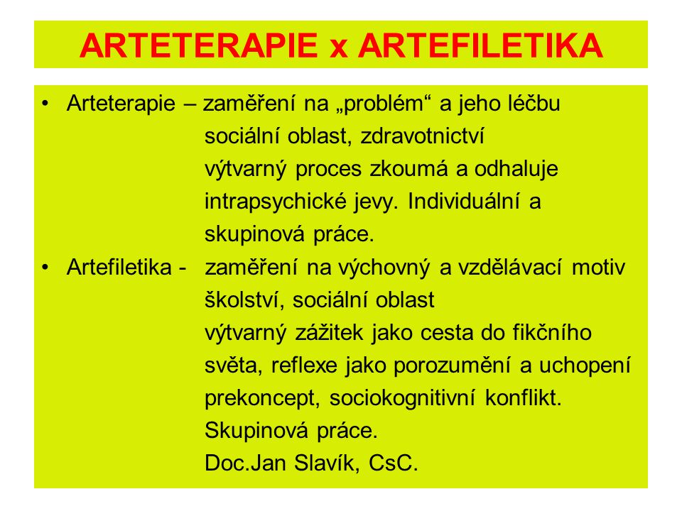 ARTETERAPIE x ARTEFILETIKA
