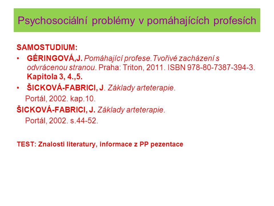 Psychosociální problémy v pomáhajících profesích