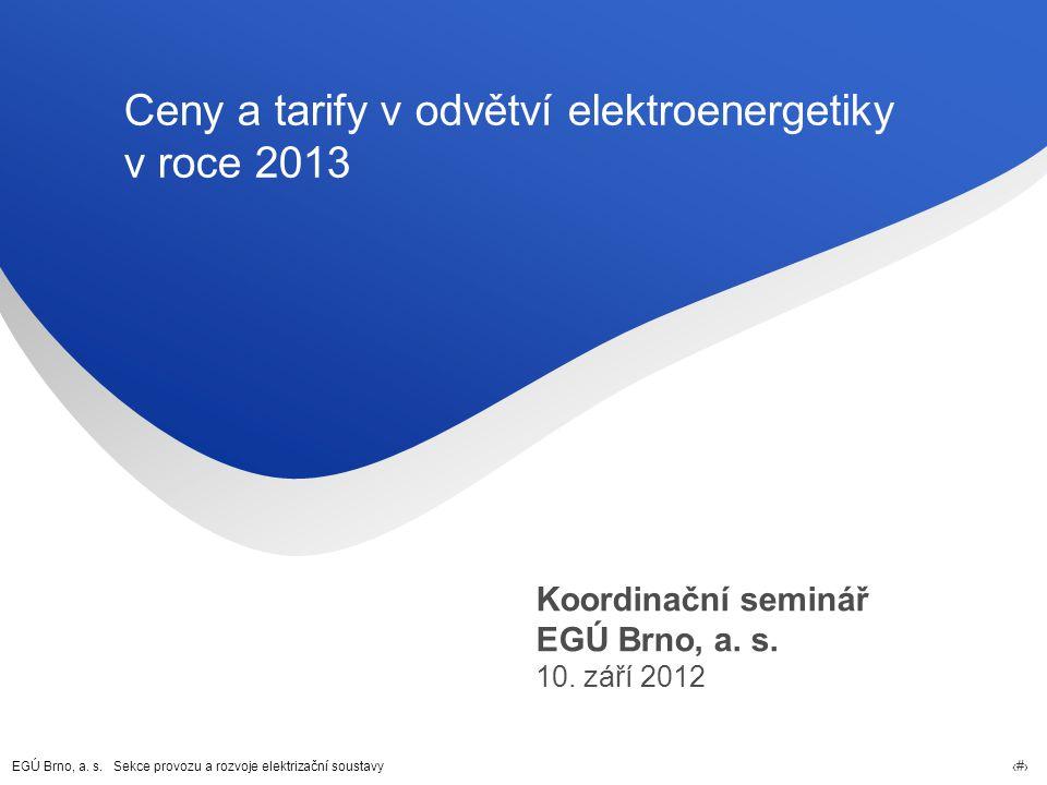 Ceny a tarify v odvětví elektroenergetiky v roce 2013