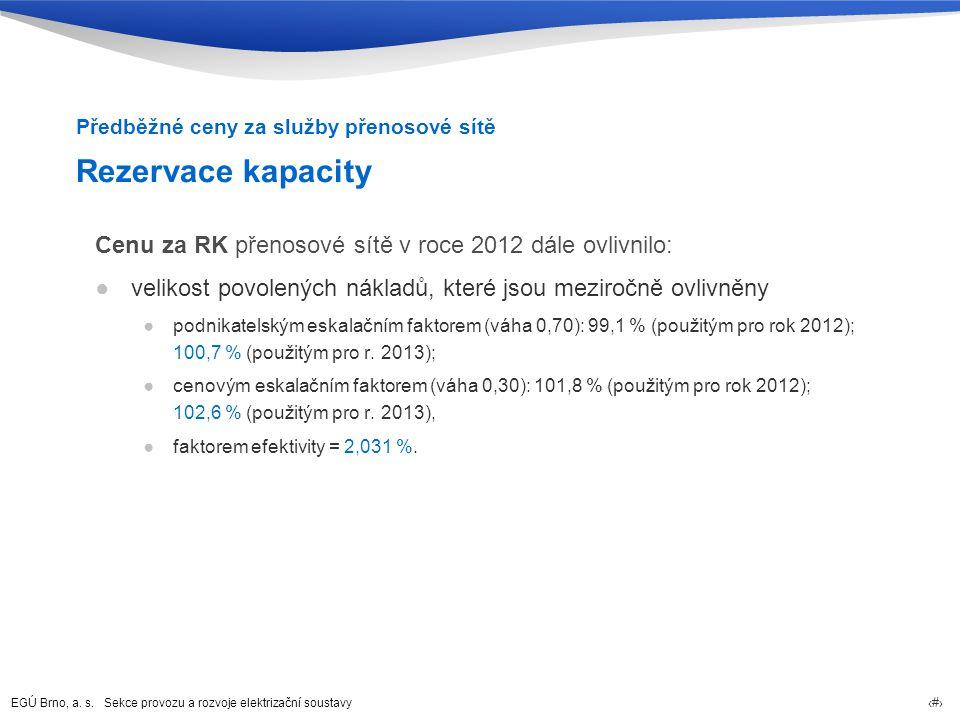 Předběžné ceny za služby přenosové sítě