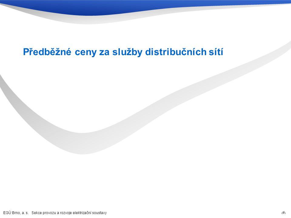 Předběžné ceny za služby distribučních sítí