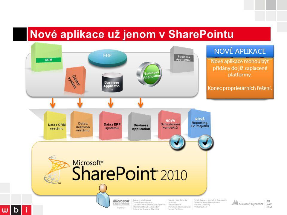 Nové aplikace už jenom v SharePointu