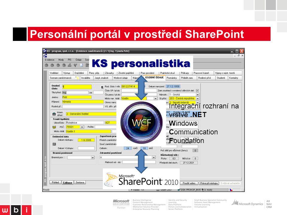 Personální portál v prostředí SharePoint