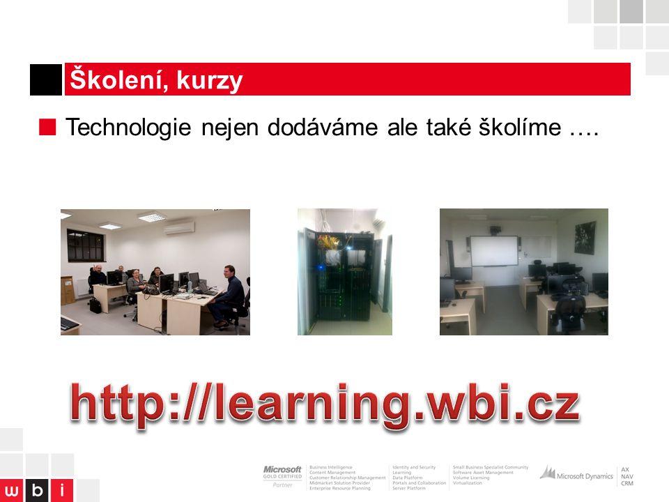 http://learning.wbi.cz Školení, kurzy
