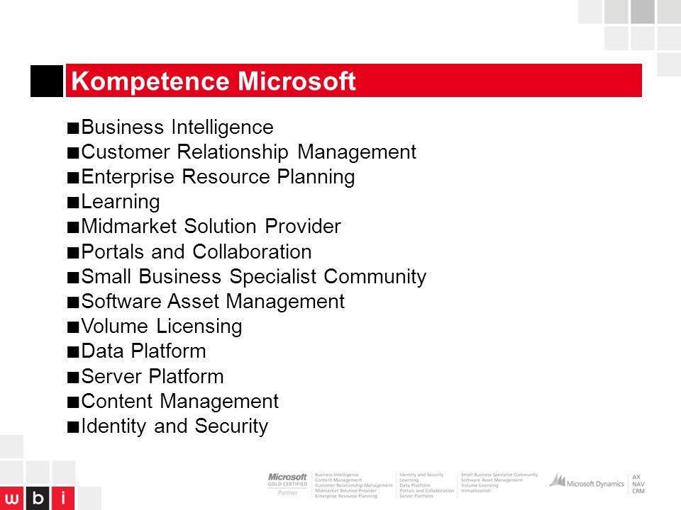 Kompetence Microsoft Business Intelligence