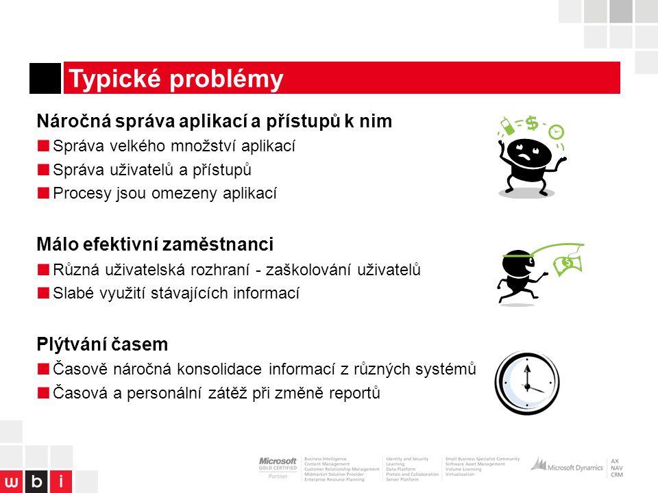 Typické problémy Náročná správa aplikací a přístupů k nim