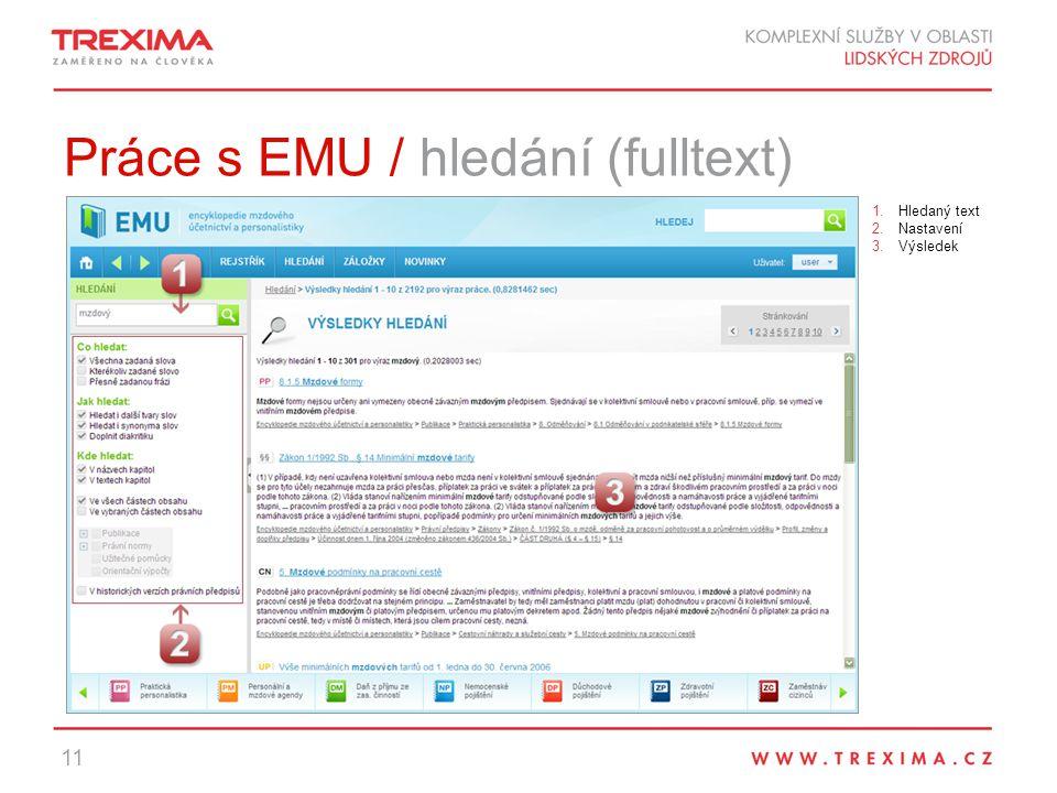 Práce s EMU / hledání (fulltext)