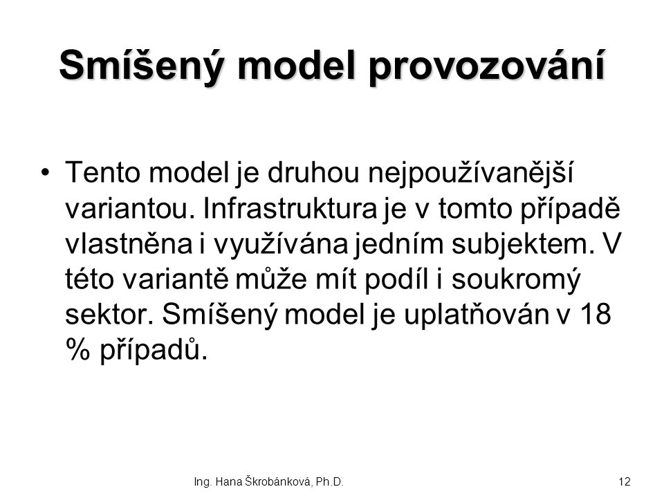 Smíšený model provozování