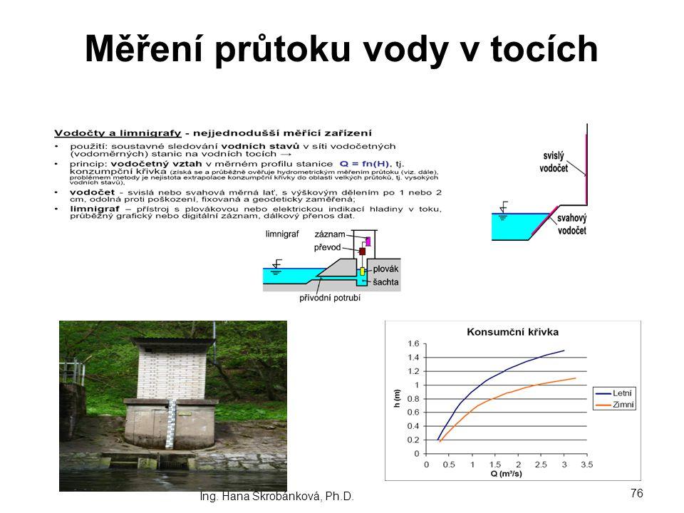 Měření průtoku vody v tocích