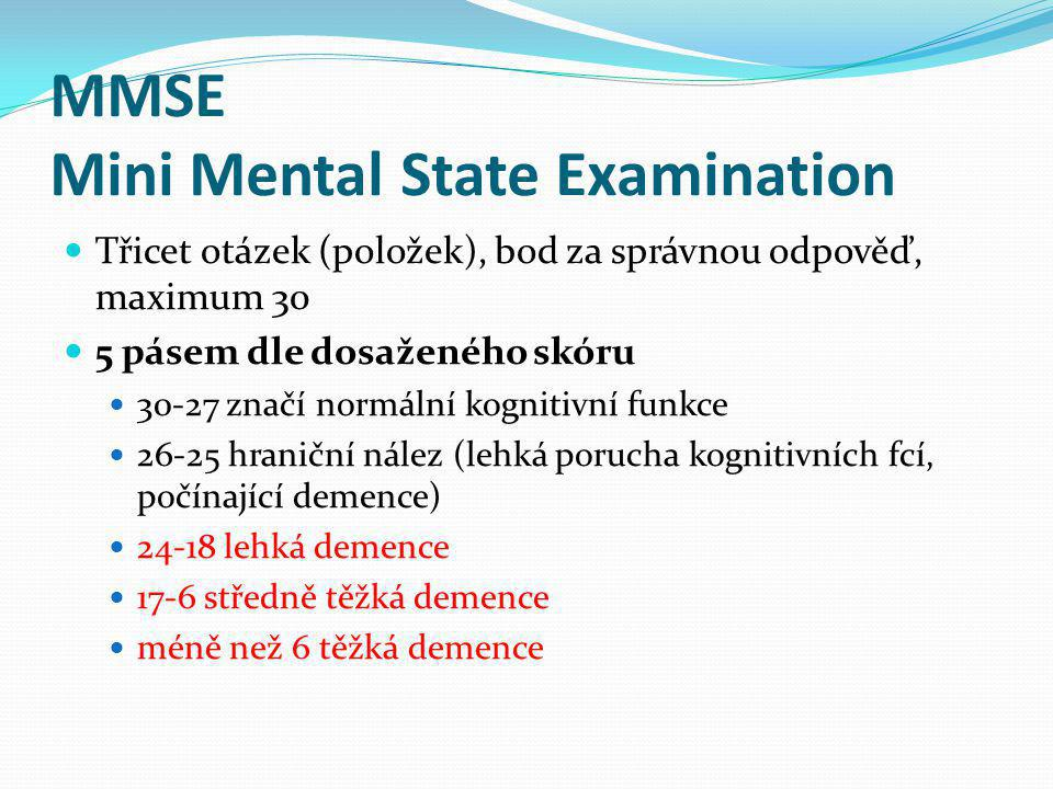 MMSE Mini Mental State Examination