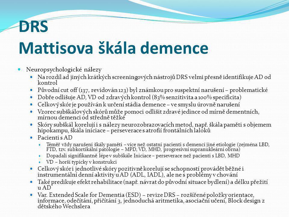 DRS Mattisova škála demence