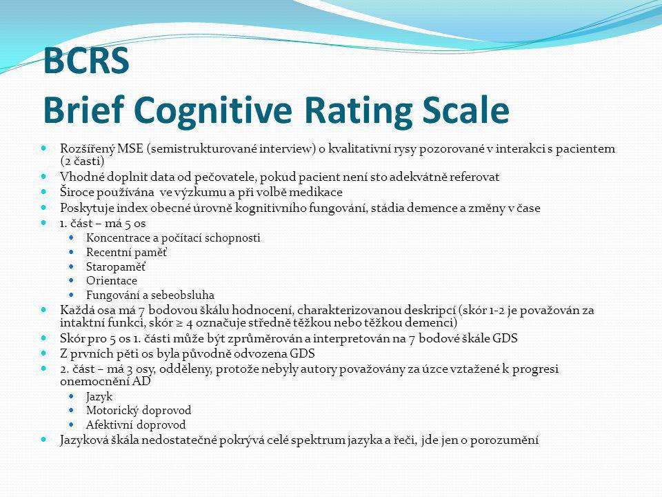BCRS Brief Cognitive Rating Scale