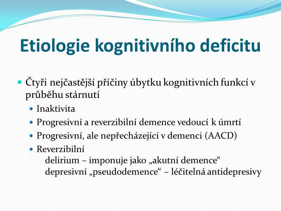 Etiologie kognitivního deficitu