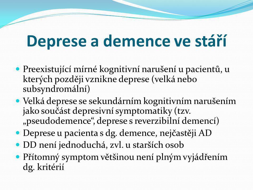 Deprese a demence ve stáří