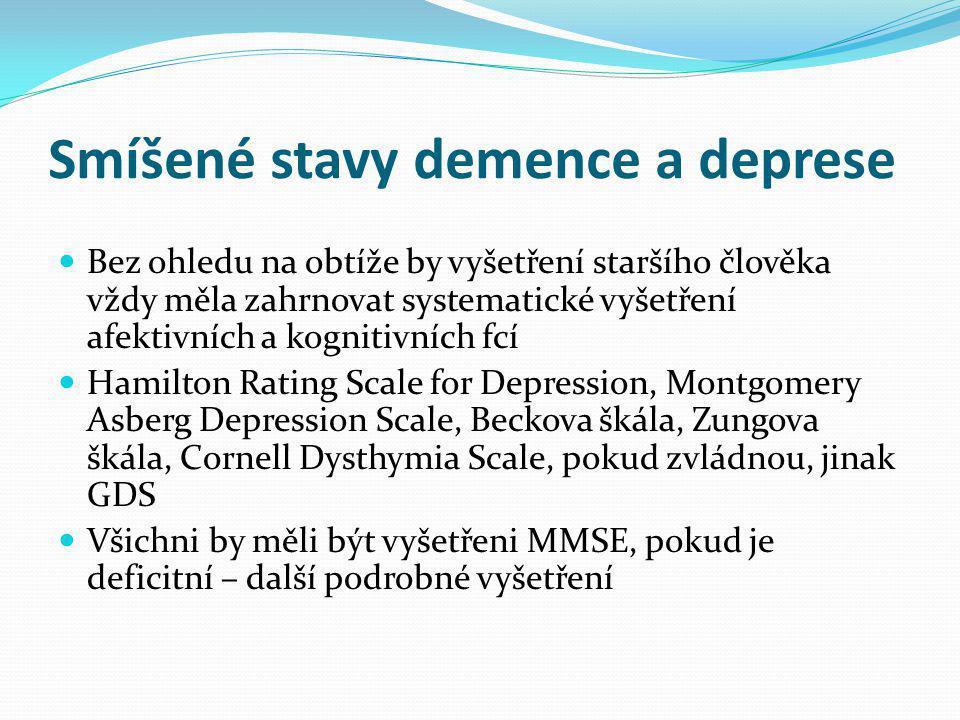 Smíšené stavy demence a deprese