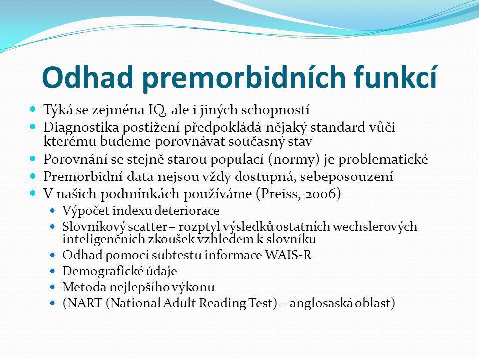 Odhad premorbidních funkcí