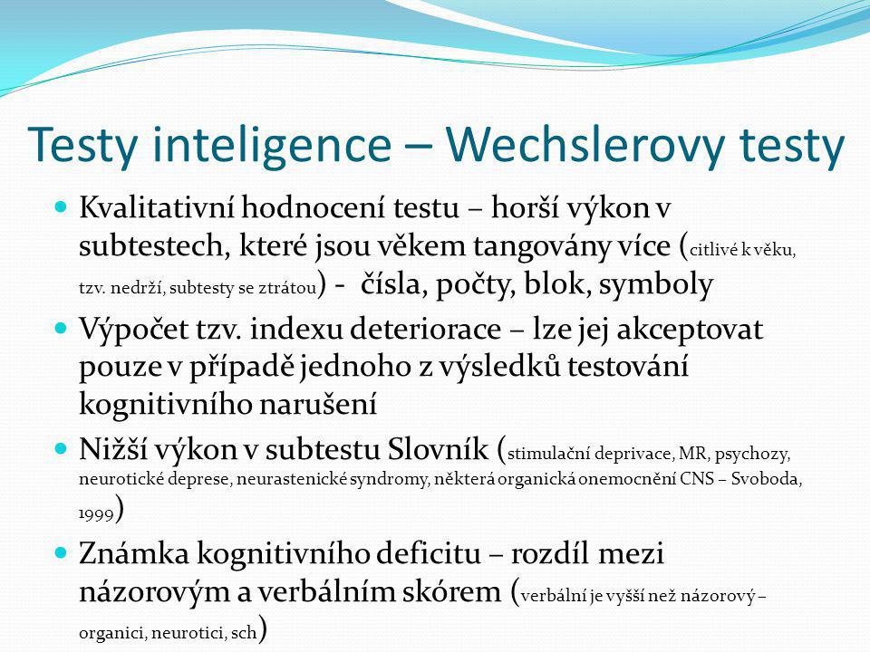 Testy inteligence – Wechslerovy testy