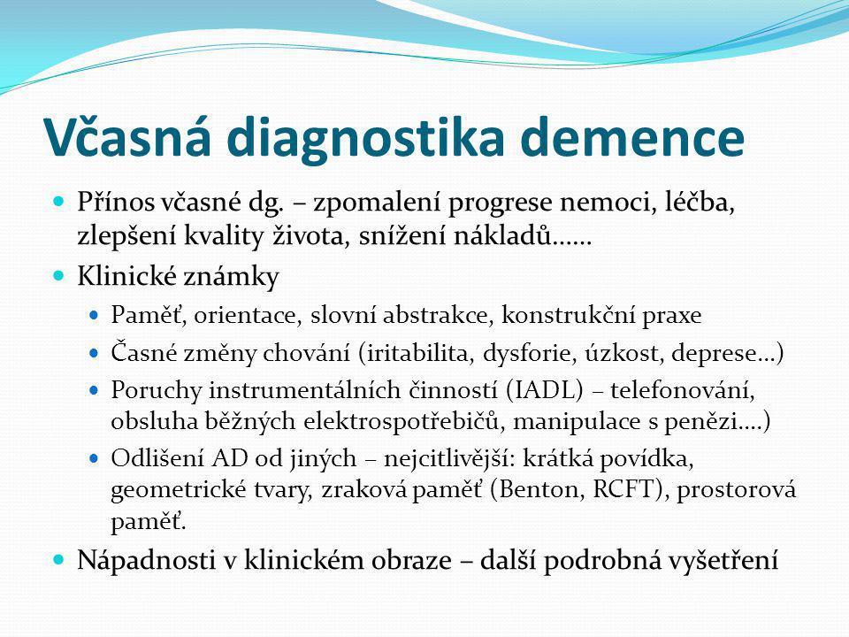 Včasná diagnostika demence