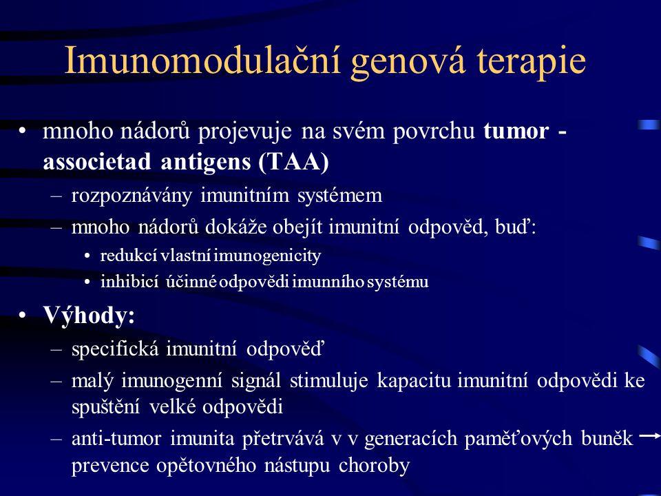 Imunomodulační genová terapie