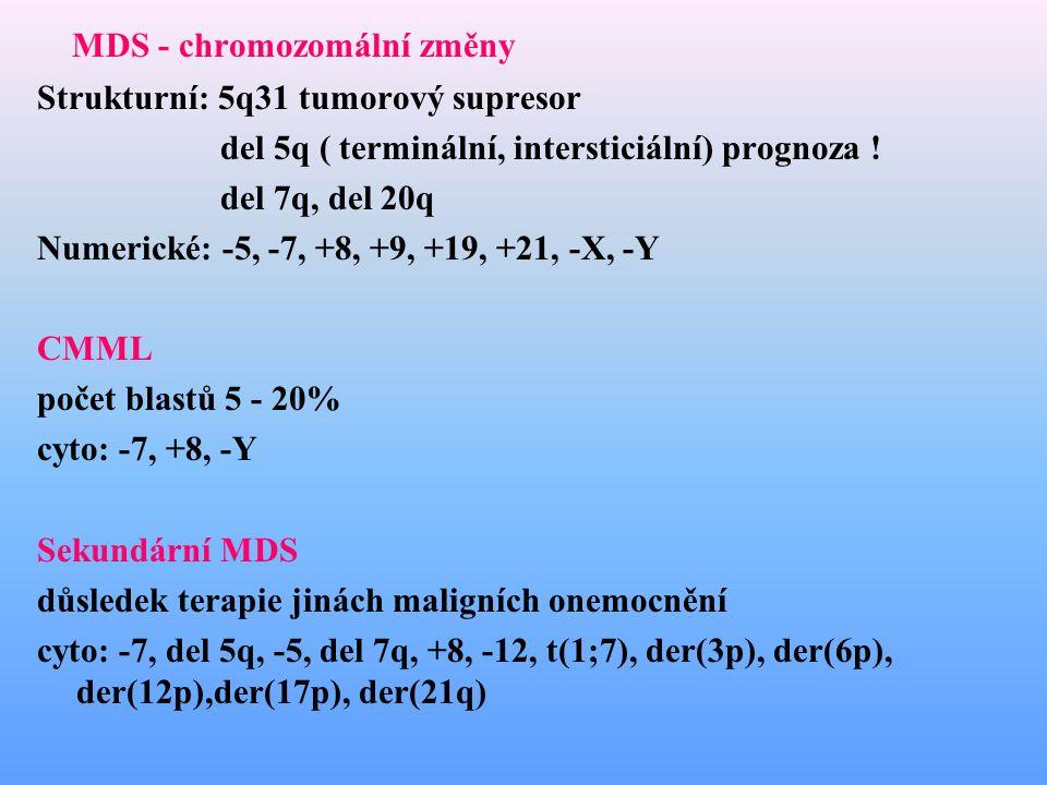 MDS - chromozomální změny