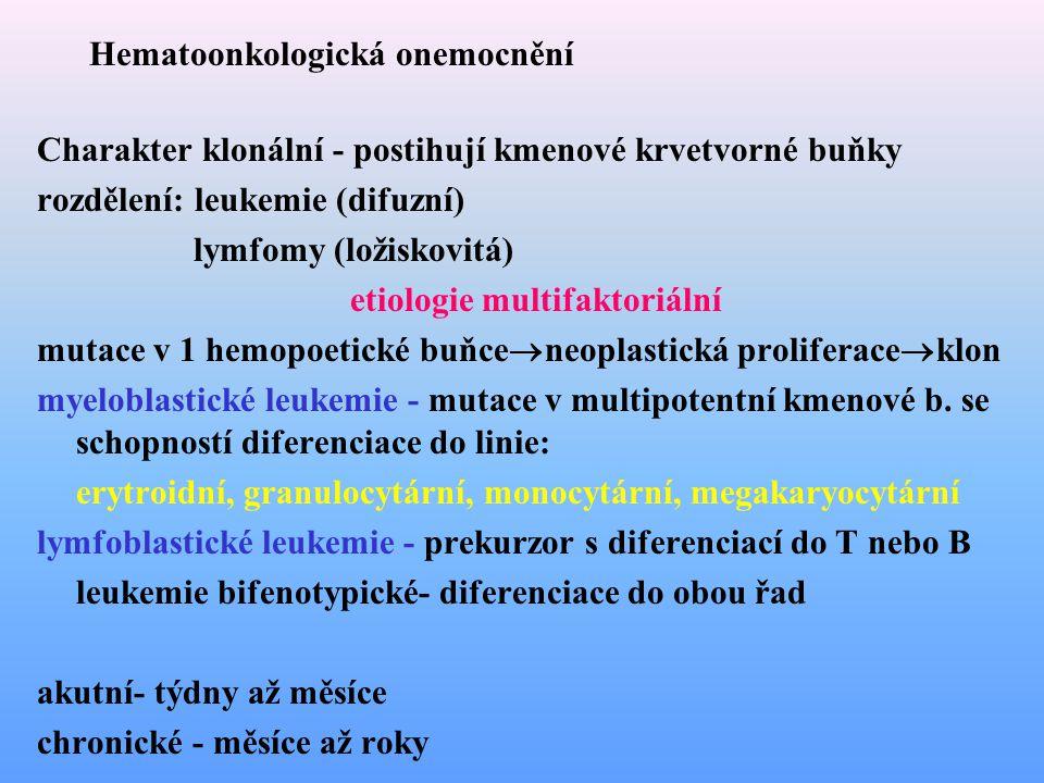Hematoonkologická onemocnění