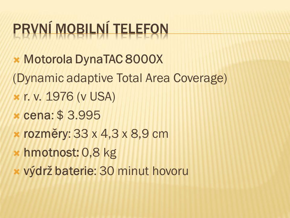 PRVNÍ MOBILNÍ TELEFON Motorola DynaTAC 8000X