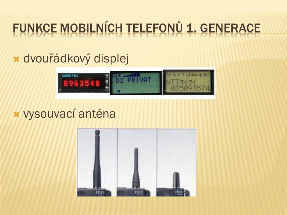 Funkce mobilních telefonů 1. generace