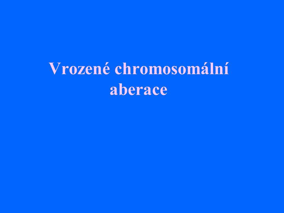 Vrozené chromosomální aberace