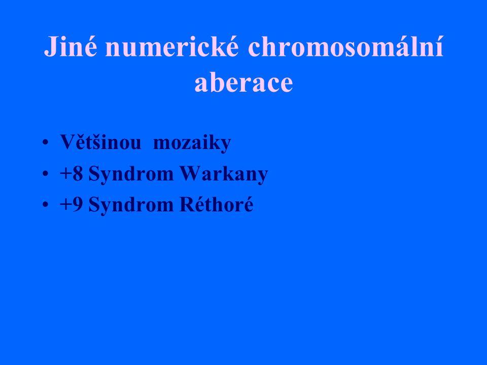 Jiné numerické chromosomální aberace