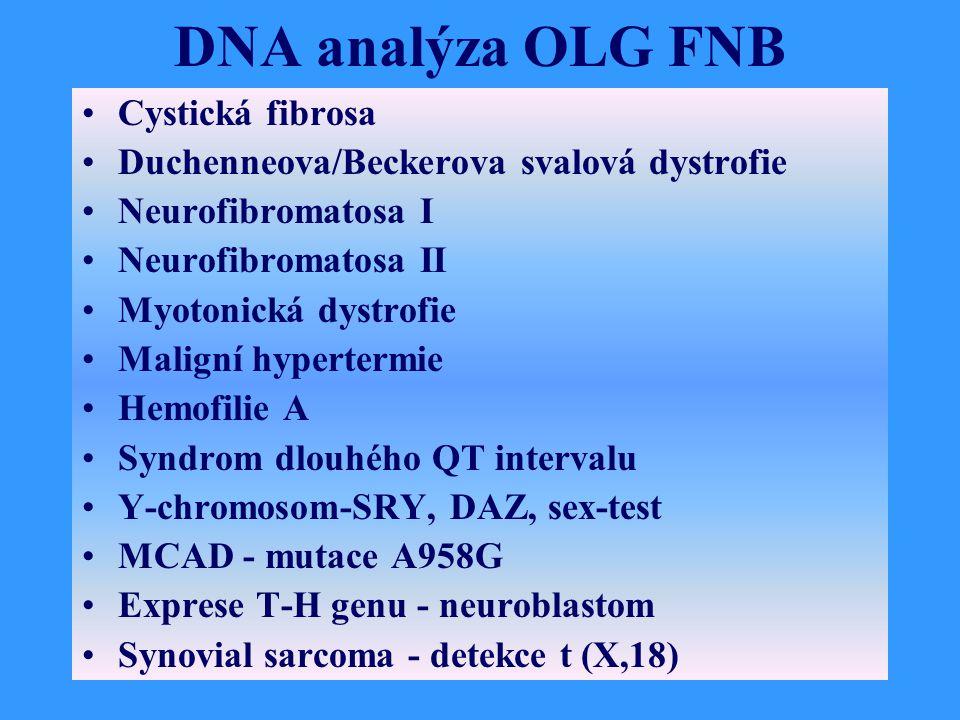 DNA analýza OLG FNB Cystická fibrosa