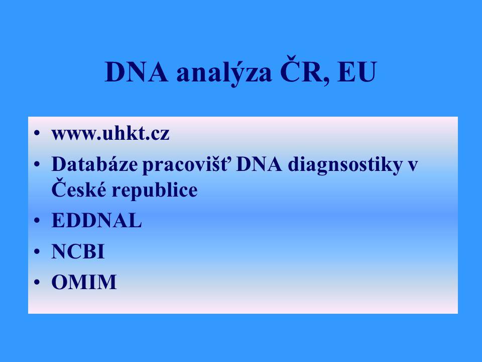 DNA analýza ČR, EU www.uhkt.cz