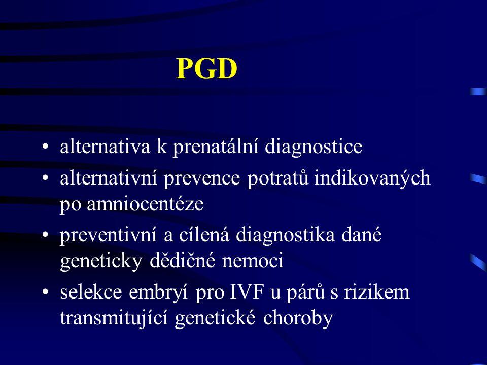PGD alternativa k prenatální diagnostice