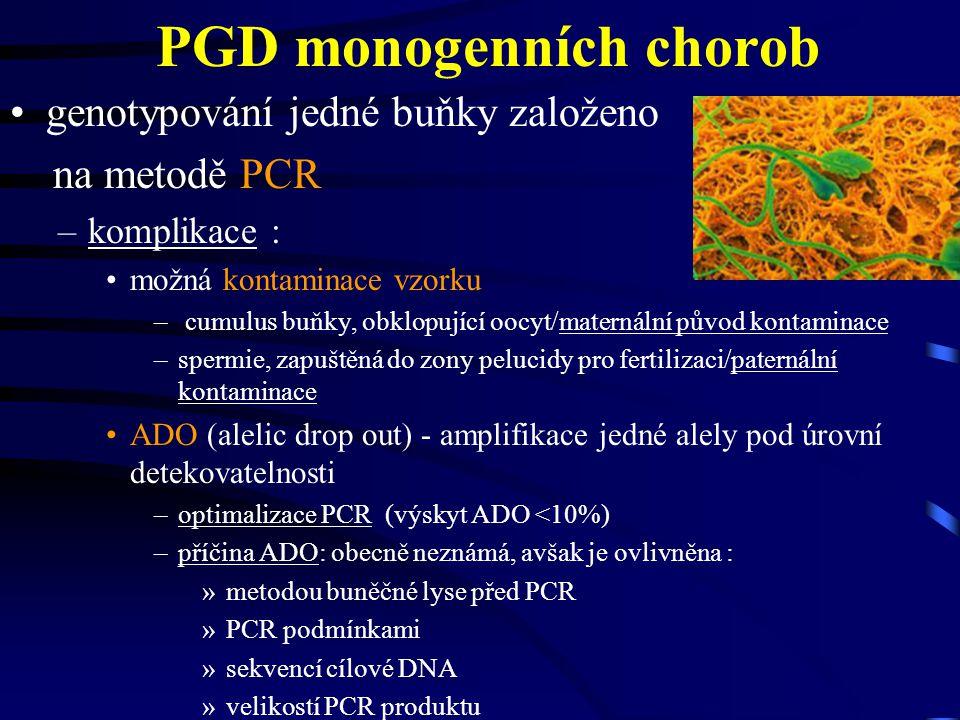 PGD monogenních chorob