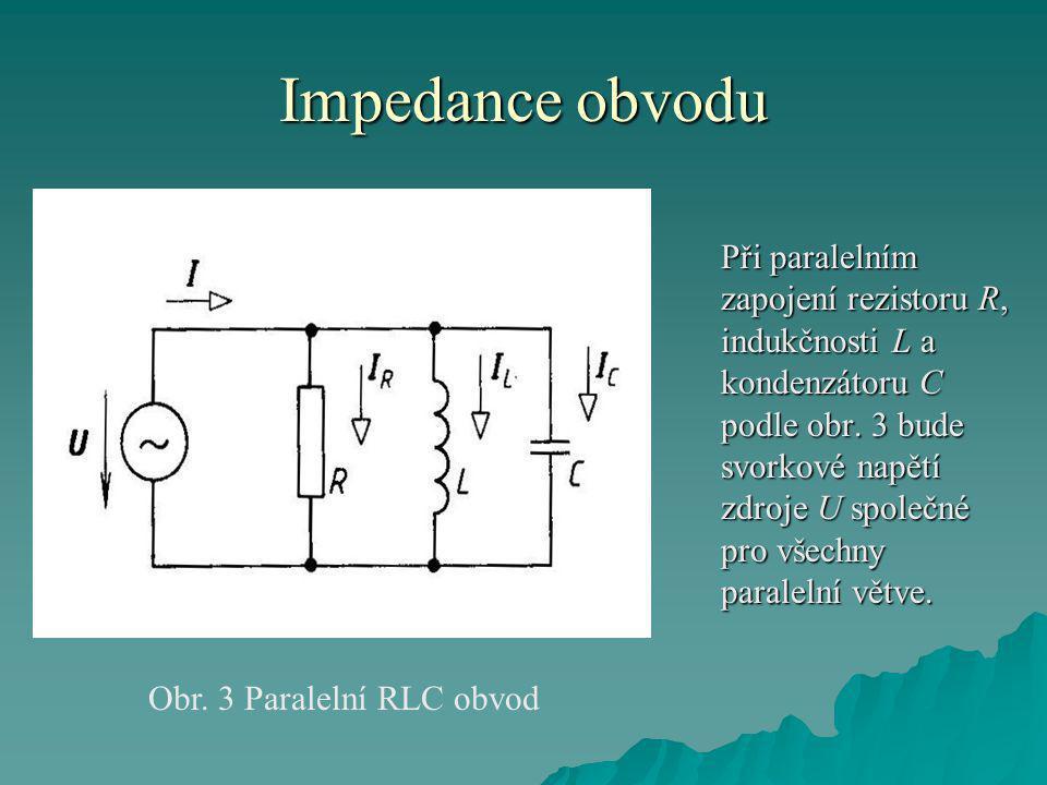 Obr. 3 Paralelní RLC obvod