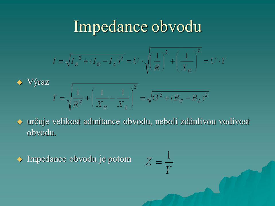 Impedance obvodu Výraz