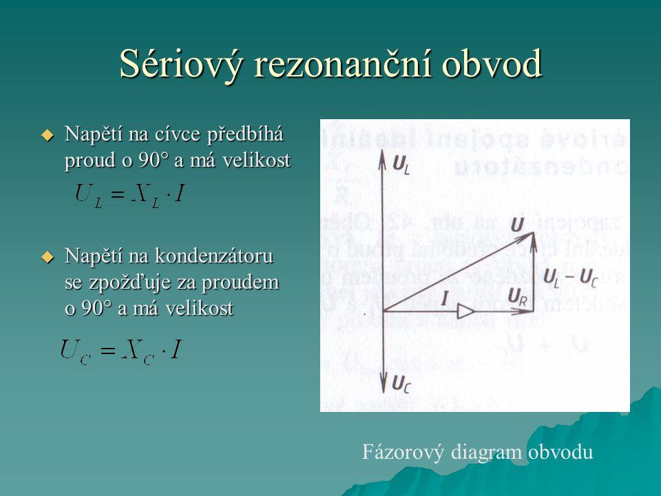 Sériový rezonanční obvod