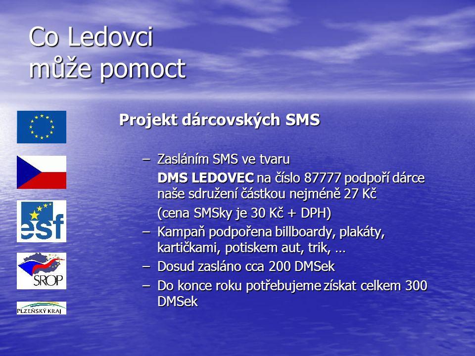 Co Ledovci může pomoct Projekt dárcovských SMS Zasláním SMS ve tvaru