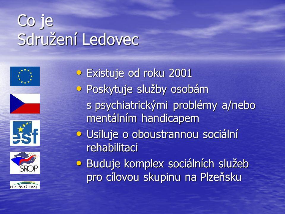Co je Sdružení Ledovec Existuje od roku 2001 Poskytuje služby osobám